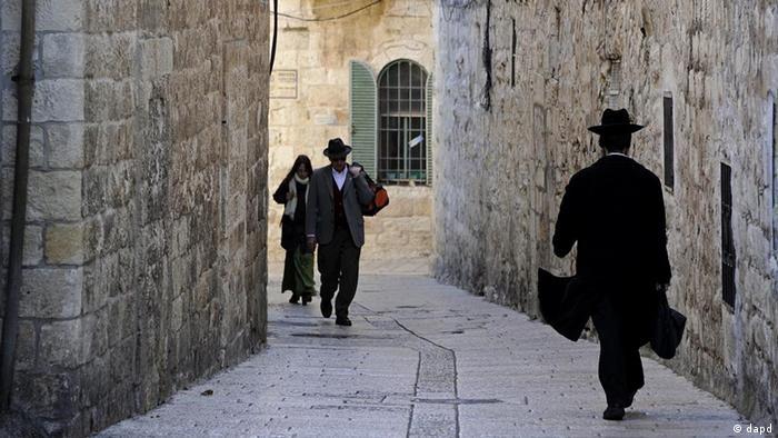 Israel Religion Alltag in der Altstadt von Jerusalem Gasse