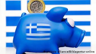 Kasica-prasica sa grčkom zastavom