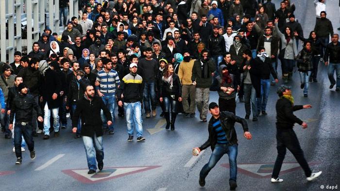 تظاهرات طرفداران پ.ک.ک در استانبول در سال ۲۰۱۱