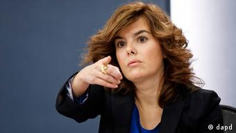 Spanien Regierungssprecherin Vizepräsidentin Soraya Saenz de Santamaria