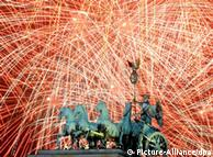 Fireworks at Brandenburg Gate