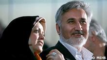 زهرا اشراقی در کنار محمدرضا خاتمی