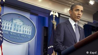 President Barack Obama speaks in the briefing room of the White House