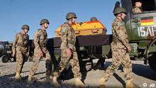 Проводы погибшего в Афганистане немецкого военнослужащего