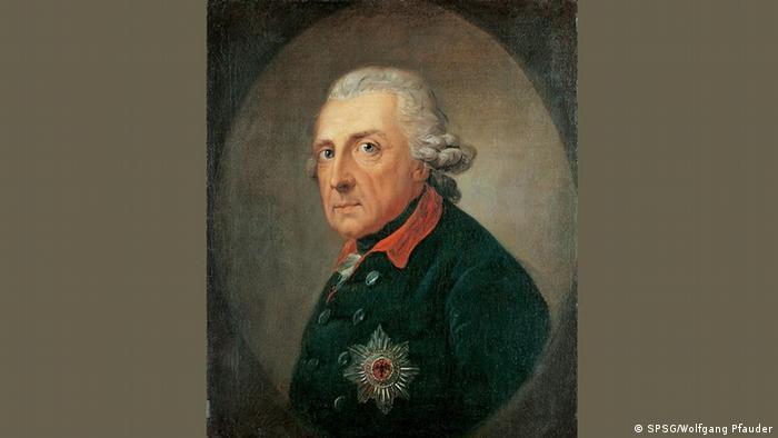 gemaltes Bild von Friedrich II.