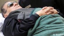 Ägypten Prozeß gegen Hosni Mubarak wird fortgesetzt in Kairo Krankenbett