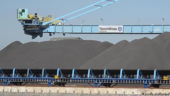 Depósito de minérios da usina de Sepetiba