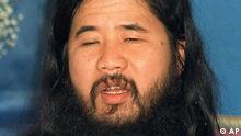 ** FILE ** In this undate file photo shows Shoko Asahara, doomsday cult guru Shoko Asahara. Asahara was sentenced to hang for trying to bring down Japan's government in an elaborate scheme to hasten Armageddon with a series of violent crimes culminating in a nerve-gas attack on Tokyo's subways that killed 12 people and sickened 5,000 more on March 20, 1995. (ddp images/AP Photo/ Kyodo News) ** JAPAN OUT NO SALE **