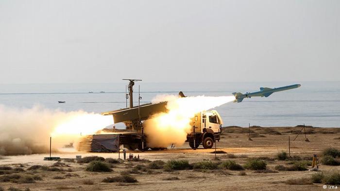 آزمایش موشکی جدید در رزمایش ایران در خلیجفارس