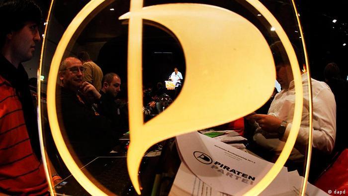Logo der Piratenpartei (Foto: Mario Vedder/dapd)