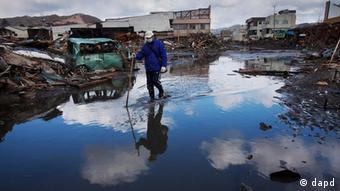 Japan Erdbeben und Tsunami Fukushima Stadt Kesennuma Verwüstung