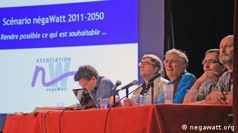 Präsentation von négaWatt am 29.9. 2011 in Paris Quelle: negawatt.org