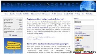 Screenshot der Website 'Politically Incorrect' (Foto: DW)