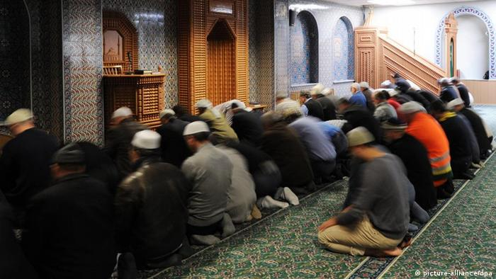 Men in a mosque