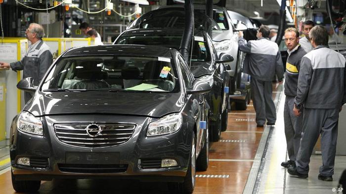 На заводе Opel в Рюссельсхайме