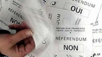 Bevorstehendes Referendum in Frankreich über die EU-Verfassung