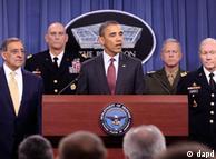 باراک اوباما به همراه مقامات سیاسی و نظامی در پنتاگون