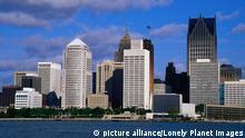 USA Skyline Detroit Michigan