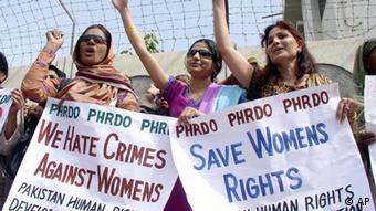Demonstration für Frauenrechte in Pakistan 2007 Frauentag