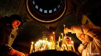 Orthodoxe Weihnachten.Orthodoxe Christen Feiern Weihnachten Welt Dw 06 01 2012