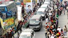 Bangladesch Autodemonstration der Opposition