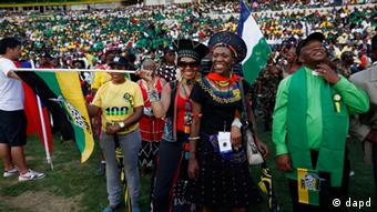 Crowds at the ANC's 100th anniversary celebrations in Bloemfontein, South Africa, Sunday, Jan. 8, 2012. (Photo:Jerome Delay/AP/dapd)