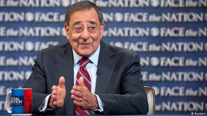 Defense Secretary Leon Panetta answers a question during CBS's Face the Nation program in Washington January 6, 2012 in this handout picture released to Reuters January 8, 2012. Panetta cautioned global rivals on Sunday not to misjudge U.S. plans to slash military spending over the next decade, saying America would still field the world's strongest military and nobody should mess with that. Picture taken January 6, 2012. REUTERS/Chris Usher/CBS News/Handout (UNITED STATES - Tags: POLITICS MILITARY) NO SALES. NO ARCHIVES. FOR EDITORIAL USE ONLY. NOT FOR SALE FOR MARKETING OR ADVERTISING CAMPAIGNS. THIS IMAGE HAS BEEN SUPPLIED BY A THIRD PARTY. IT IS DISTRIBUTED, EXACTLY AS RECEIVED BY REUTERS, AS A SERVICE TO CLIENTS