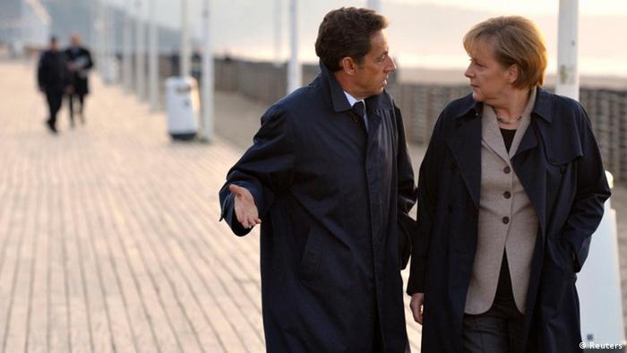 Deutschland Frankreich Geschichte Merkel Sarkozy Symbolbild