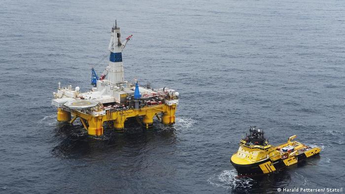 Платформа для добычи нефти в Баренцевом море