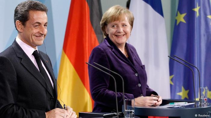 Ангела Меркель и Николя Саркози 9 января 2012 года в Берлине