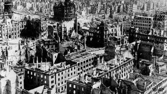 Deutschland Dresden Jahrestag der Zerstörung Dresdens Weltkrieg