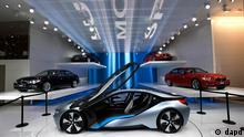 The BMW i8 concept is shown at the North American International Auto Show in Detroit, Monday, Jan. 9, 2012. (Foto:Paul Sancya/AP/dapd)