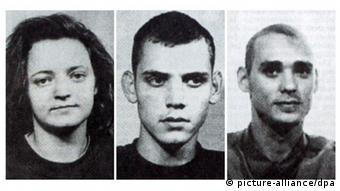 Fahndungsbilder von Beate Zschäpe (l-r), Uwe Böhnhardt und Uwe Mundlos. (Foto: dpa)