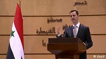 Syrien Assad Rede Januar 2012