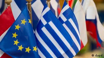 European flags, with Greece in the foreground