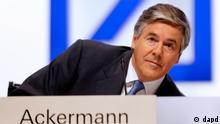 Josef Ackermann, presidente de Deutsche Bank.