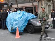 خودروی مصطفی احمدی روشن پس از سانحه