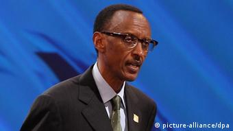 Rwanda President Paul Kagame speaks at the opening ceremony of the 4th High Level Forum on Aid Effectiveness at a convention center in South Korea's largest port city of Busan