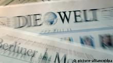Zeitungen aus Springer Verlag Symbolbild Presseschau Presse