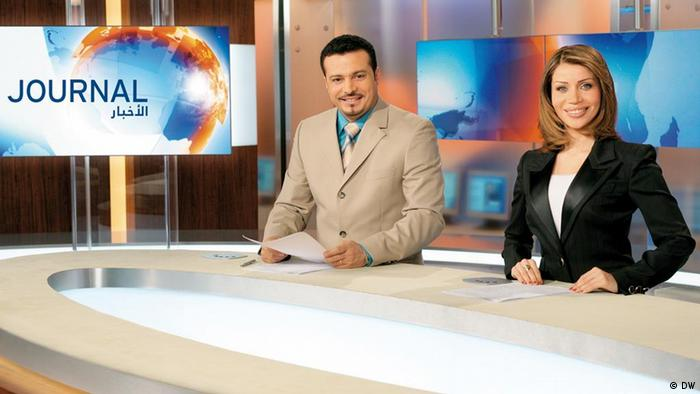 Arabic television program for the Middle East an North Africa: the news program Journal is the flagship