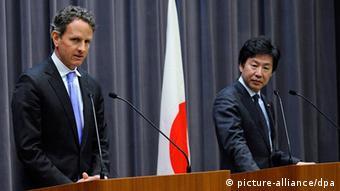 Japan USA Finanzminister Timothy Geithner bei Jun Azumi in Tokio