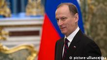 Russland Nikolai Platonowitsch Patruschew Sekretär Sicherheitsrat in Moskau