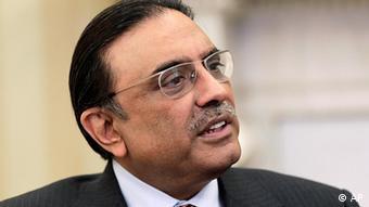 Pakistan Präsident Porträt Asif Ali Zardari
