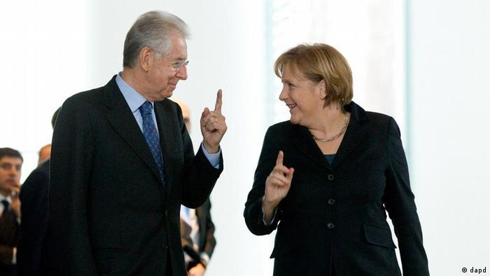 Angela Merkel Mario Monti