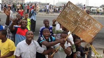 Demonstranten in Nigeria (Foto: dapd)