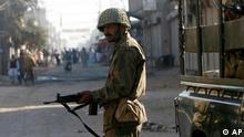 Militär in Larkana, Pakistan