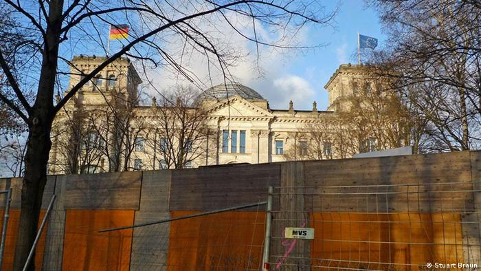 Construction site in front of the Reichstag in Berlin