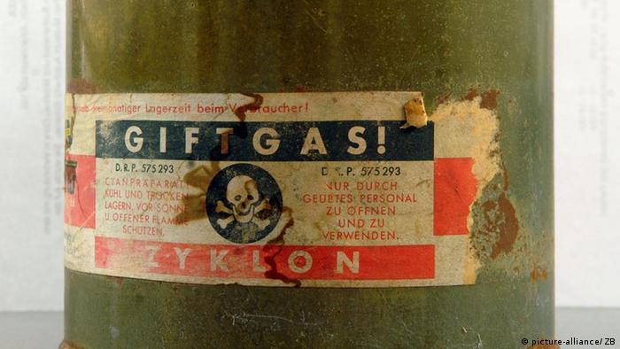 Zyklon B war ursprünglich ein Schädlingsbekämpungsmittel auf der Basis von Blausäure. Die SS setzte es in Auschwitz-Birkenau zur massenhaften Ermordung der KZ-Häftlinge ein. (Foto: dpa)
