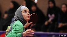 Neda Shahsawari ist die erste iranische Frau, die im Tischtennis an der Olympiade in London Teilnimmt. Quelle: IRNA Lizenz: Frei