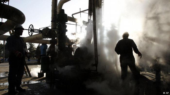 Iran Erdöl Öl Industrie Raffinerie Arbeiter (AP)